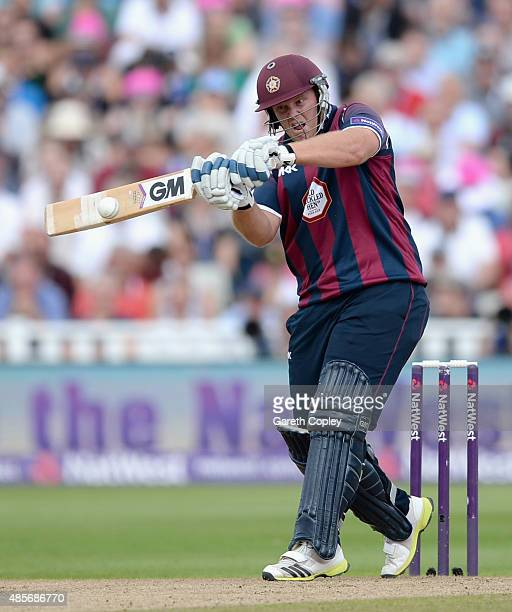 Richard Levi of Northamptonshire bats during the NatWest T20 Blast Semi Final between Birmingham Bears and Northamptonshire Steelbacks at Edgbaston...