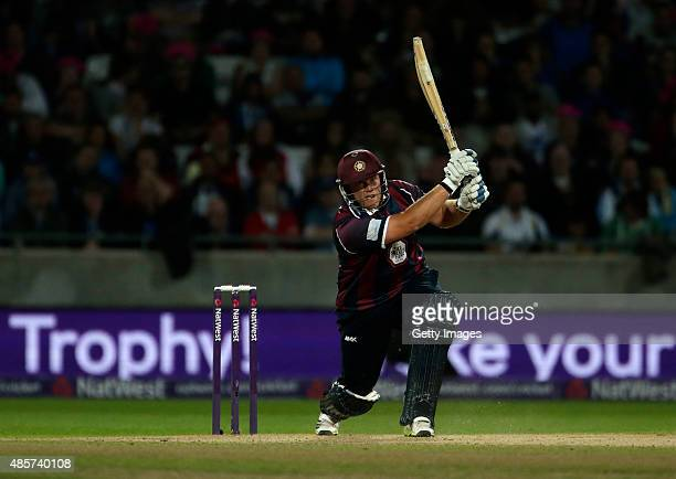 Richard Levi of Northamptonshire in action during the NatWest T20 Blast Final between Lancashire Lightning and Northamptonshire Steelbacks at...