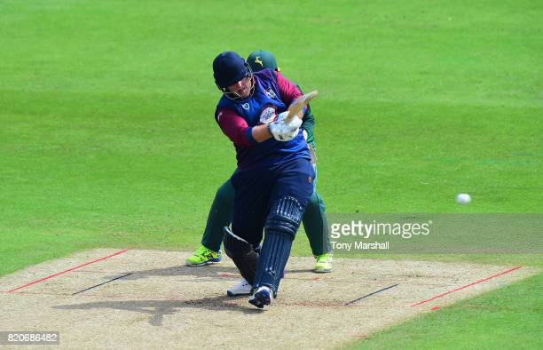 Richard Levi of Northamptonshire Steelbacks bats during the NatWest T20 Blast between Nottinghamshire Outlaws and Northamptonshire Steelbacks at...