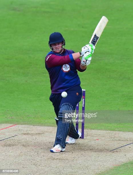 Richard Levi of Northamptonshire Steelbacks bats during the NatWest T20 Blast between Nottinghamshire Outlaws and Northamptonshire Steelbacks at...