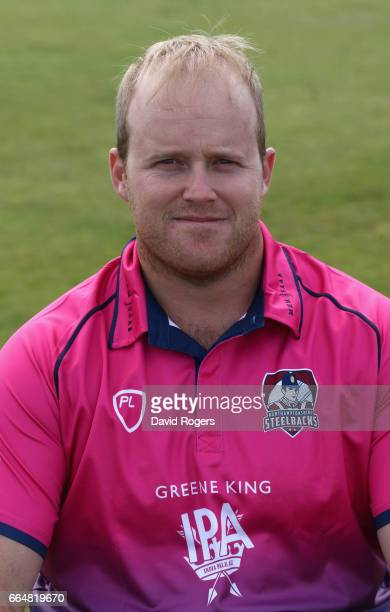 Richard Levi poses in the Royal London OneDay Cup kit during the Northamptonshire County Cricket photocall at The County Ground on April 5 2017 in...