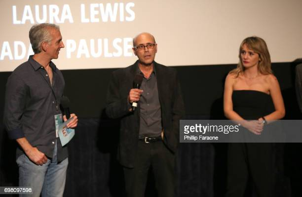 Richard Levine and Addison Timlin speak at the screening of 'Submission' during the 2017 Los Angeles Film Festival at Arclight Cinemas Culver City on...
