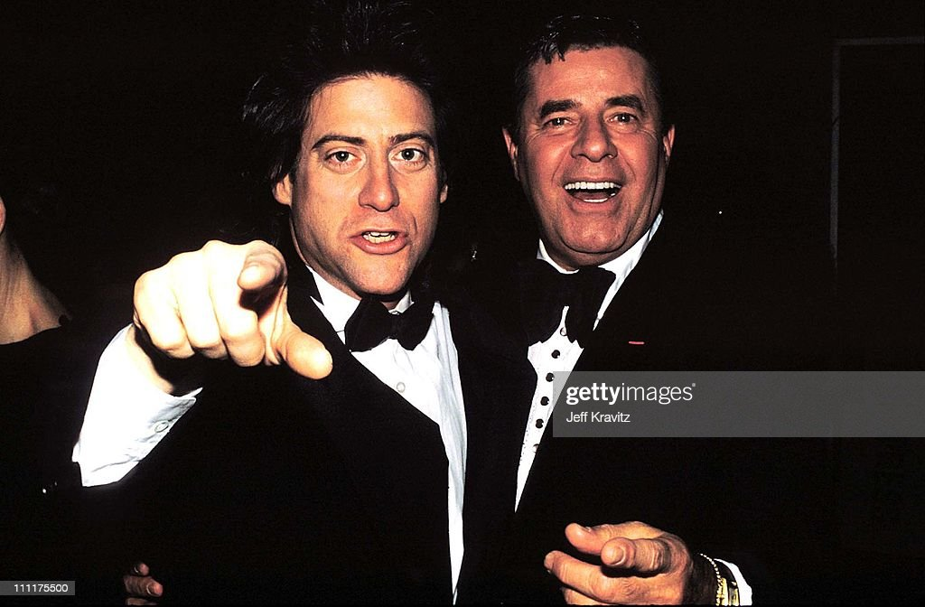 Richard Lewis & Jerry Lewis during 1991 Cable ACE Awards in Los Angeles, California, United States.