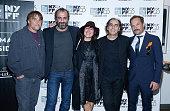 Richard Linklater Panos Koronis Filmmaker Athina Rachel Tsangari Vangelis Mourikis and Yorgos Pirpassopoulus attend a screening of 'Chevalier' during...