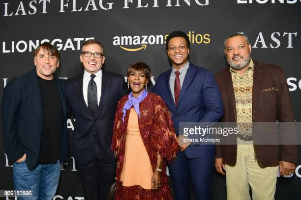Richard Linklater Steve Carell Cicely Tyson J Quinton Johnson and Laurence Fishburne attend the premiere of Amazon's 'Last Flag Flying' at DGA...