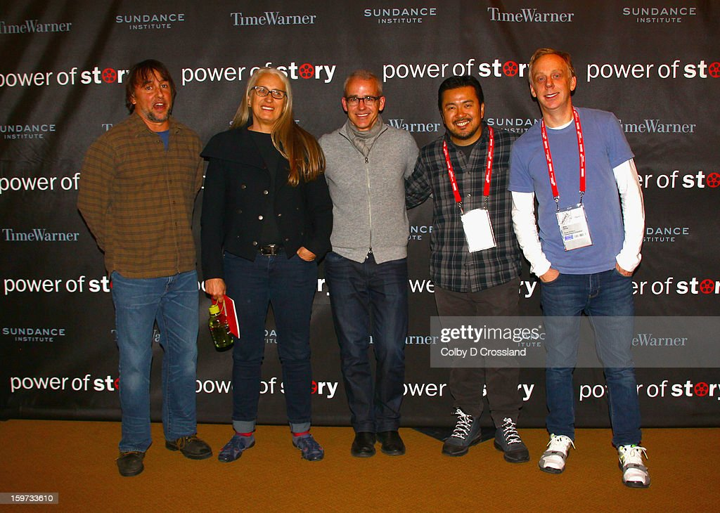 <a gi-track='captionPersonalityLinkClicked' href=/galleries/search?phrase=Richard+Linklater&family=editorial&specificpeople=242770 ng-click='$event.stopPropagation()'>Richard Linklater</a>,Jane Campion, Jess Cagle, <a gi-track='captionPersonalityLinkClicked' href=/galleries/search?phrase=Justin+Lin&family=editorial&specificpeople=593881 ng-click='$event.stopPropagation()'>Justin Lin</a> and <a gi-track='captionPersonalityLinkClicked' href=/galleries/search?phrase=Mike+White+-+Screenwriter&family=editorial&specificpeople=4604186 ng-click='$event.stopPropagation()'>Mike White</a> attend the Power Of Story: Independence Unleashed Panel at Egyptian Theatre during the 2013 Sundance Film Festival on January 19, 2013 in Park City, Utah.