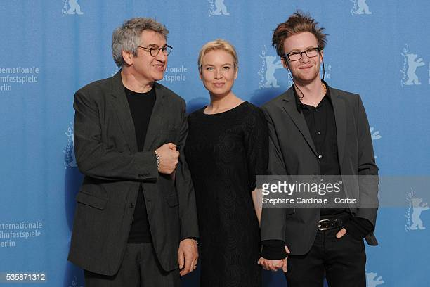 Richard Loncraine Renee Zellweger Mark Rendall at the photo call for 'My One and Only' at the 59th Berlin Film Festival