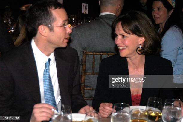 Richard Lovett and Sally Field during Shoah Foundation Exclusive Event at Amblin Entertainment on Universal Studios in Universal City California...