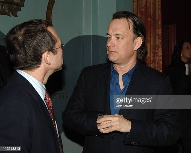 Richard Lovett and Tom Hanks during HBO Original Series 'Big Love' Premiere Red Carpet at Grauman's Chinese Theater in Hollywood California United...