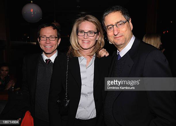 Richard Lovett Julie Yorn and Tom Rothman attend the after party for the 'We Bought a Zoo' premiere at The Royalton Hotel on December 12 2011 in New...