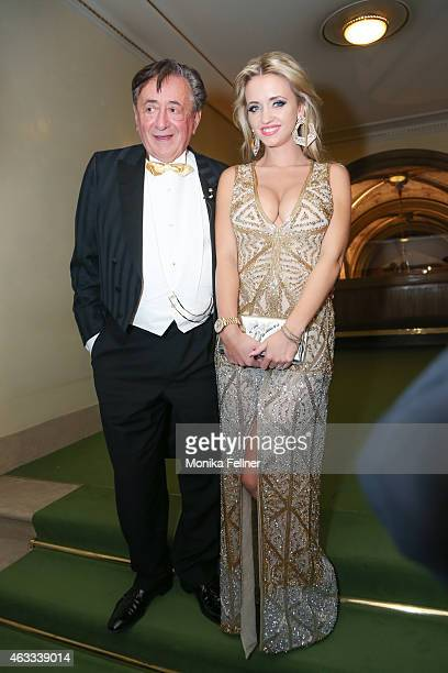 Richard Lugner and Cathy Lugner attend the traditional Opera Ball Vienna at State Opera Vienna on February 12 2015 in Vienna Austria