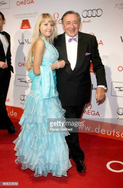 Richard Lugner and guest attend the 37th German Filmball 2010 at the Hotel Bayerischer Hof on January 16 2010 in Munich Germany