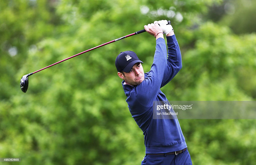 KINGDOM - JUNE 02 Richard Mackenzie Smith tee's off at the first during the Powerade PGA Assistants' Championship - Scottish Regional Qualifier at Auchterarder Golf Club on June 02, 2014 in Auchterarder, Scotland.