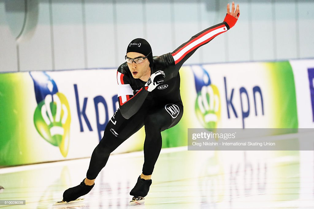 Richard Maclennan of Canada compete in the Men 1500 meters race during day 3 of the ISU World Single Distances Speed Skating Championships held at Speed Skating Centre Kolomna Ice Arena on February 13, 2016 in Kolomna, Russia.