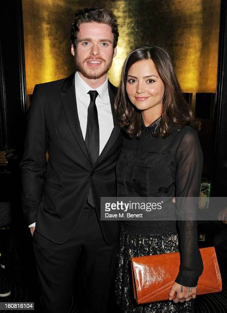 Richard Madden and JennaLouise Coleman attend the PreBAFTA Party hosted by EE and Esquire ahead of the 2013 EE British Academy Film Awards at The...