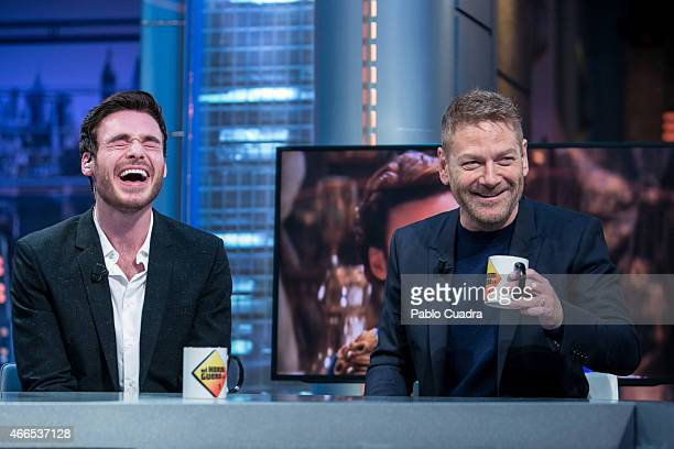 Richard Madden and Kenneth Branagh attend 'El Hormiguero' Tv show at Vertice Studio on March 16 2015 in Madrid Spain