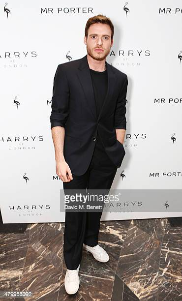 Richard Madden attends the summer dinner hosted by Harrys of London and Mr Porter at Burlington Arcade on July 8 2015 in London England