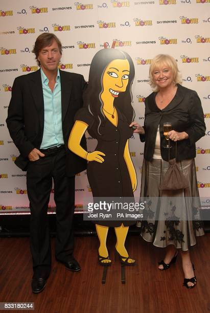 Richard Madeley and Judy Finnigan arrive for the UK Premiere of The Simpsons Movie at the Vue Cinema The O2 Peninsula Square London