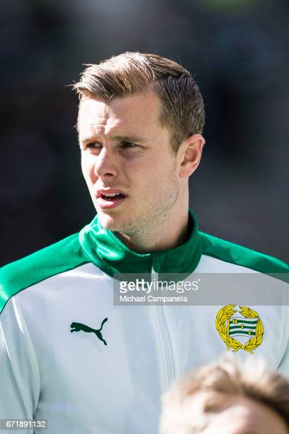 Richard Magyar of Hammarby IF during an Allsvenskan match between Hammarby IF and GIF Sundsvall at Tele2 Arena on April 23 2017 in Stockholm Sweden