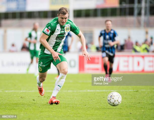 Richard Magyar of Hammarby IF during the Allsvenskan match between IK Sirius FK and Hammarby IF at Studenternas IP on May 21 2017 in Uppsala Sweden