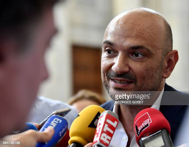 Richard Malka the French lawyer of French photographer Martin d'Orgeval speaks to the medias after the appeal trial at the Appeal court of Bordeaux...
