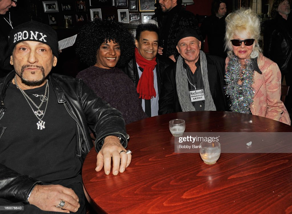 Richard Manitoba LaLa Brooks, Gary US Bands, Peppy Castro and Christine Ohlman performs at The Cutting Room on January 25, 2013 in New York, New York.