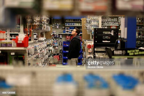 Richard Maraggio shopping at YouDoIt Electronics store He was looking for a wall mounting for a television