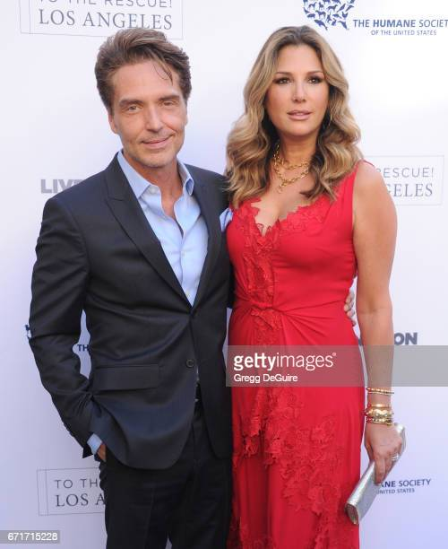 Richard Marx and Daisy Fuentes arrive at the Humane Society Of The United States' Annual To The Rescue Los Angeles Benefit at Paramount Studios on...