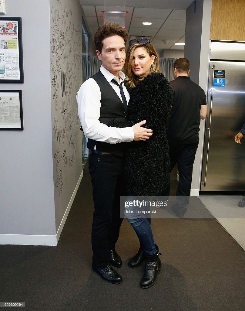 Richard Marx and Daisy Fuentes attend AOL Build Speaker Series at AOL Studios In New York on April 28, 2016 in New York City.