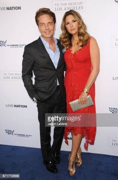 Richard Marx and Daisy Fuentes attend Humane Society of The United States' annual To The Rescue Los Angeles benefit at Paramount Studios on April 22...