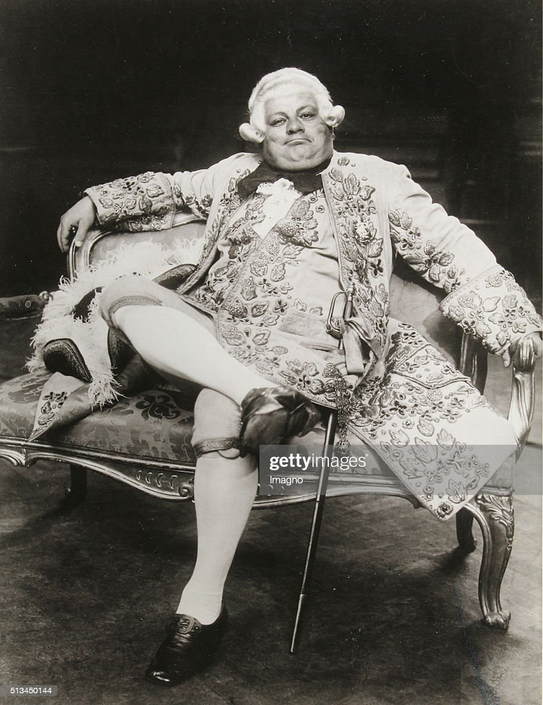 Richard Mayr as Ochs auf Lerchenau in 'Rosenkavalier' at the Salzburg Festival circa 1930