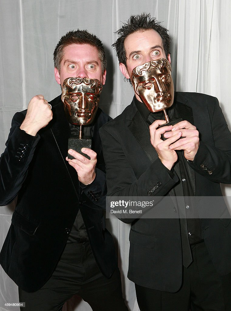 Richard McCourt and Dominic Wood attends the BAFTA Academy Children's Awards at the Roundhouse on November 23 2014 in London England