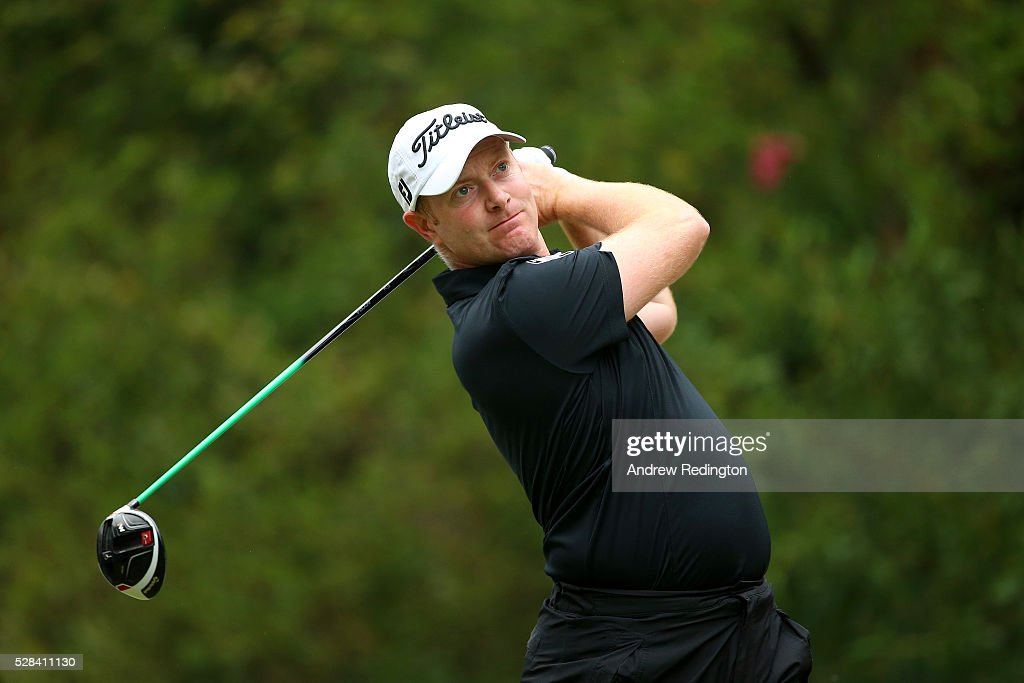 <a gi-track='captionPersonalityLinkClicked' href=/galleries/search?phrase=Richard+McEvoy&family=editorial&specificpeople=235337 ng-click='$event.stopPropagation()'>Richard McEvoy</a> of England hits his tee shot on the 11th during the first round of the Trophee Hassan II at Royal Golf Dar Es Salam on May 5, 2016 in Rabat, Morocco.