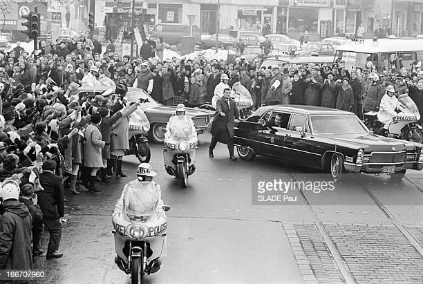 Richard Milhous Nixon In Bonn And Berlin Berlin 27 février 1969 Lors de son voyage officiel en Europe le président Richard NIXON fait une escale à...
