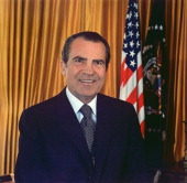 Richard Milhouse Nixon 37th President of the United States of America 19691974 The only President to resign from office