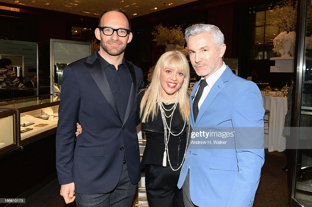 Richard Moore, Vice President Creative & Visual Merchandising at Tiffany & Co., <a gi-track='captionPersonalityLinkClicked' href=/galleries/search?phrase=Catherine+Martin&family=editorial&specificpeople=226991 ng-click='$event.stopPropagation()'>Catherine Martin</a>, Academy Award winning costume and production designer and <a gi-track='captionPersonalityLinkClicked' href=/galleries/search?phrase=Baz+Luhrmann&family=editorial&specificpeople=209230 ng-click='$event.stopPropagation()'>Baz Luhrmann</a>, director/producer/co-writer of 'The Great Gatsby' attend the unveiling of Tiffany's Fifth Avenue windows celebrating Jazz Age glamour, evoking the spirit of <a gi-track='captionPersonalityLinkClicked' href=/galleries/search?phrase=Baz+Luhrmann&family=editorial&specificpeople=209230 ng-click='$event.stopPropagation()'>Baz Luhrmann</a>'s highly anticipated adaptation of 'The Great Gatsby' on April 17, 2013 in New York City.