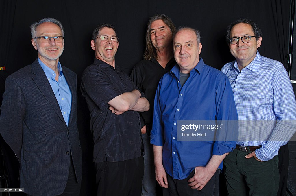 Richard Neupert Ken Winokur Terry Donahue Roger Miller and Michael Barker pose for a portrait at the 2016 Ebertfest on April 15 2016 in Champaign...