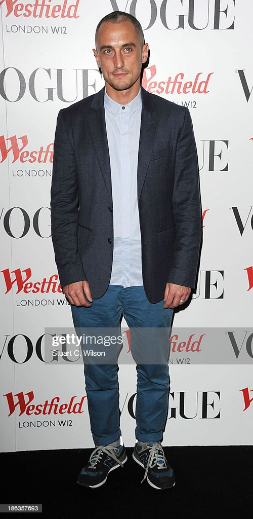 Richard Nicoll attends the launch of the Vogue Pop Up Club as part of Westfield London's 5th birthday celebrations at Westfield on October 30, 2013 in London, England.