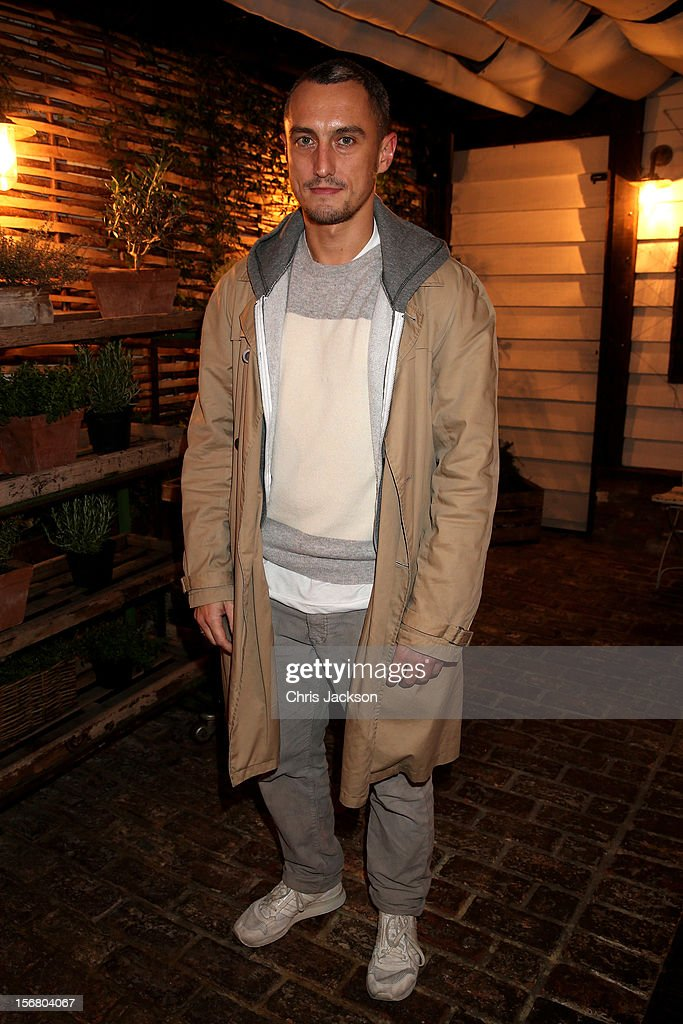Richard Nicoll attends the Vodafone Fashionable Pub Quiz at Shoreditch House on November 21, 2012 in London, United Kingdom. As Principal Sponsor of London Fashion Week, the quiz celebrated Vodafone's commitment to British Fashion.