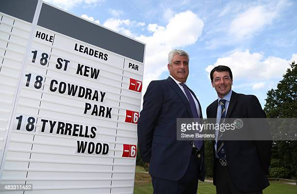 Richard O'Hanlon and Raymond Chandler of St Kew golf club after their victory in the Golfplan Insurance PGA ProCaptain Challenge south qualifier at...