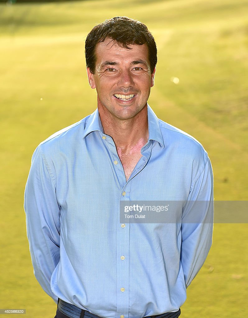 Richard O'Hanlon poses for photographs after winning the Lombard Trophy West Regional Qualifier at Burnham and Berrow Golf Club on July 23, 2014 in Burnham-on-Sea, England.
