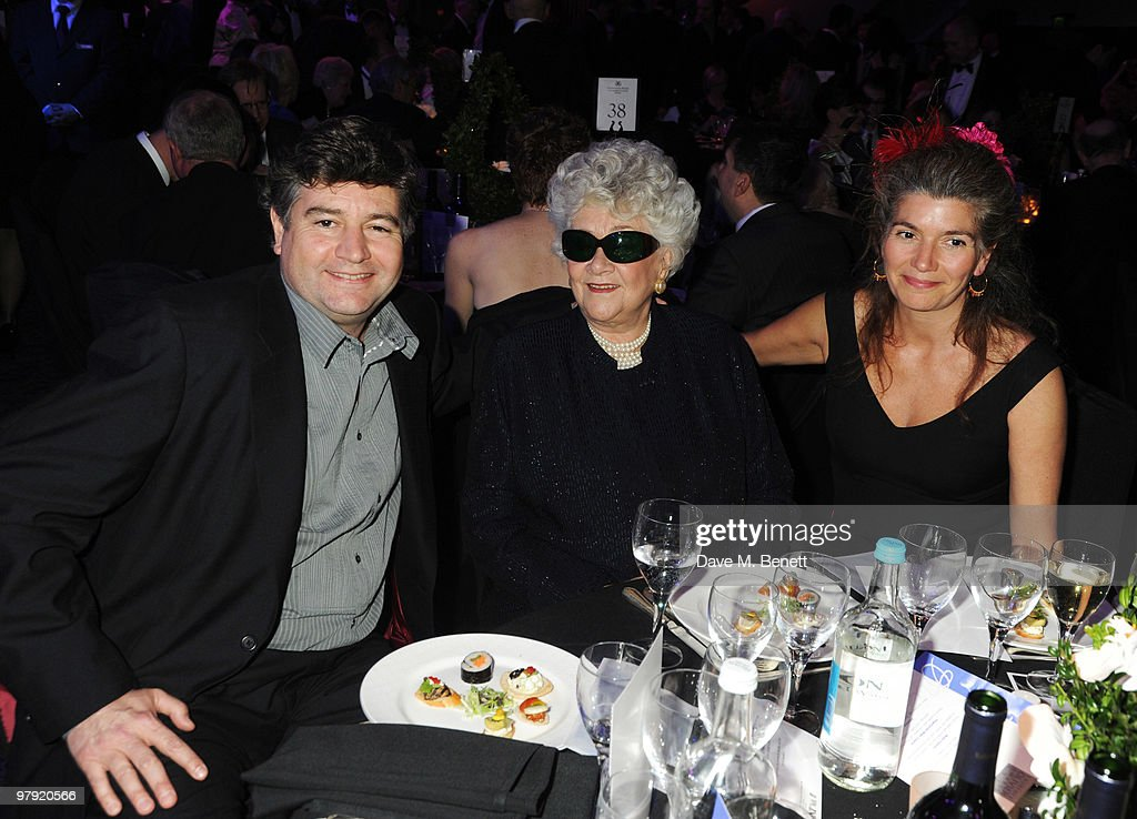Richard Olivier and <a gi-track='captionPersonalityLinkClicked' href=/galleries/search?phrase=Joan+Plowright&family=editorial&specificpeople=217859 ng-click='$event.stopPropagation()'>Joan Plowright</a> attend The Laurence Olivier Awards, at the Grosvenor House Hotel on March 21, 2010 in London, England.