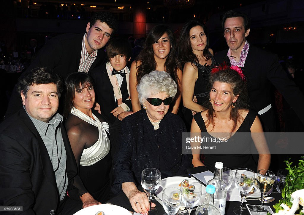 Richard Olivier and <a gi-track='captionPersonalityLinkClicked' href=/galleries/search?phrase=Joan+Plowright&family=editorial&specificpeople=217859 ng-click='$event.stopPropagation()'>Joan Plowright</a> with family attend The Laurence Olivier Awards, at the Grosvenor House Hotel on March 21, 2010 in London, England.