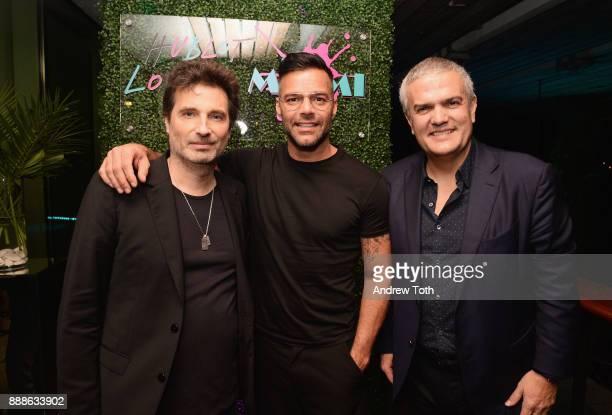 Richard Orlinski Ricky Martin and Ricardo Guadalupe attend Hublot and Haute Living's annual Hublot Loves Art dinner celebrating Richard Orlinski with...