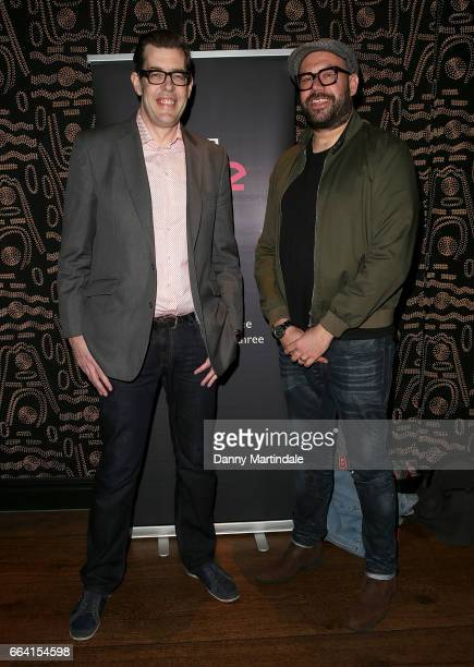Richard Osman and Tom Davis attends the screening of Murder In Successville on April 3 2017 in London United Kingdom