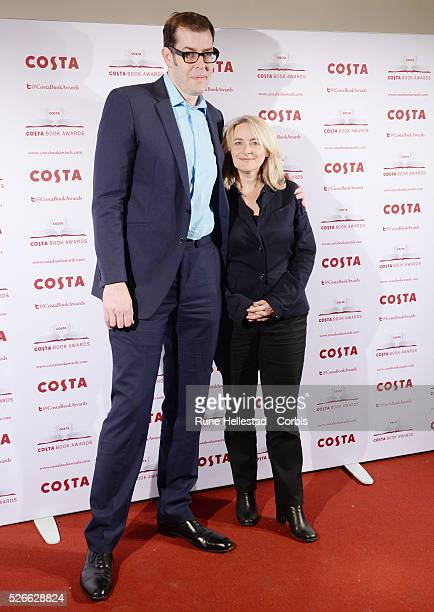 Richard Osman and wife attend the 'Costa Book Of The Year Awards' at Quaglinos