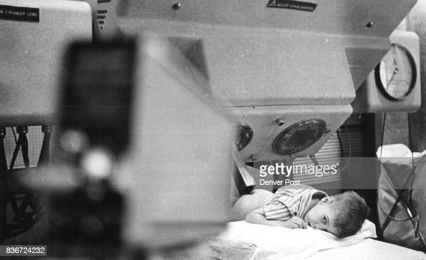 Richard Painter lies ready for his treatment When the treatment begins Richard will wear device to cut down the betatron hum that's compared to a jet...