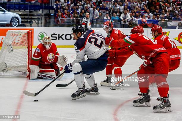 Richard Panik of Slovakia in action during the IIHF World Championship group B match between Belarus and Slovakia at CEZ Arena on May 3 2015 in...