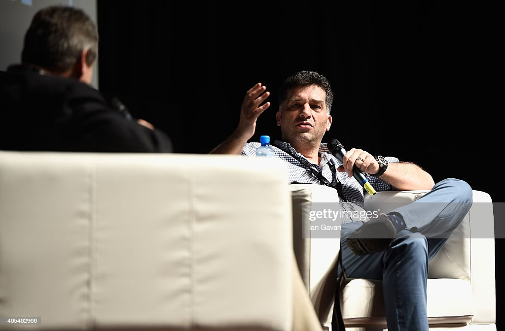 Richard Pena (L) moderates the first Qumra Master Class with academy award winning Director <a gi-track='captionPersonalityLinkClicked' href=/galleries/search?phrase=Danis+Tanovic&family=editorial&specificpeople=590907 ng-click='$event.stopPropagation()'>Danis Tanovic</a> during the inaugural edition of Qumra, a new industry event by the Doha Film Institute dedicated to the development of emerging filmmakers on March 7, 2015 in Doha, Qatar.