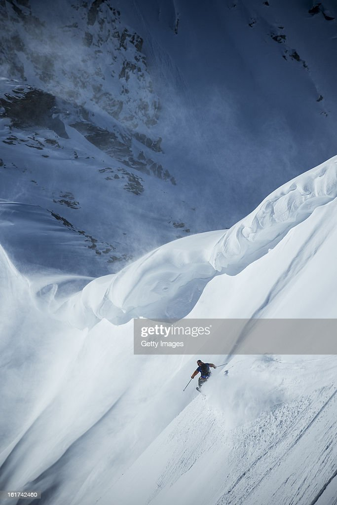 Richard Permin of France and Team Europe competes during day 1 of the Swatch Skiers Cup on February 10, 2013 in Zermatt, Switzerland.